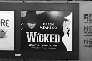 The Wicked - BART ad bw