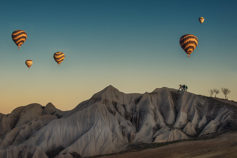 Shooting balloons in Cappadocia