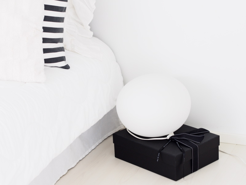 Net-A-Poter delivery box as a nightstand