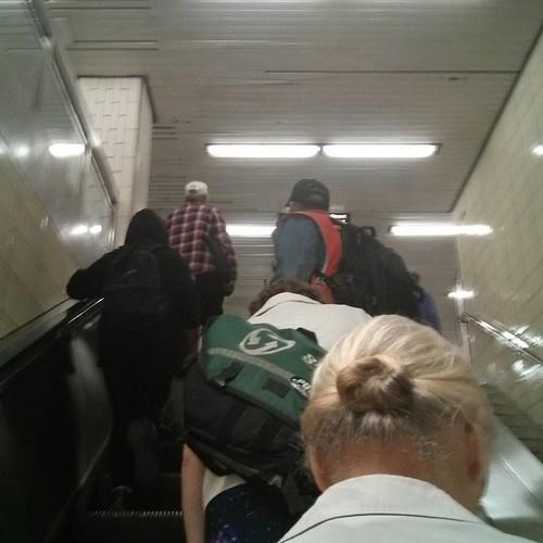 Escalator up #toronto #ttc #subway #yongeandbloor #blooryonge #escalators