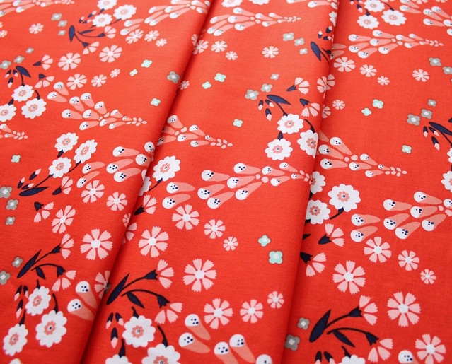 Cloud9 Fabrics Foxglove 150307 Foxgloves Orange