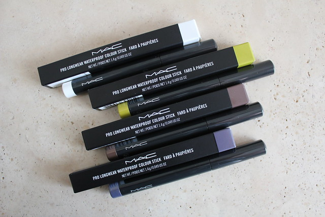 MAC Pro Longwear Waterproof Colour Stick review and swatches