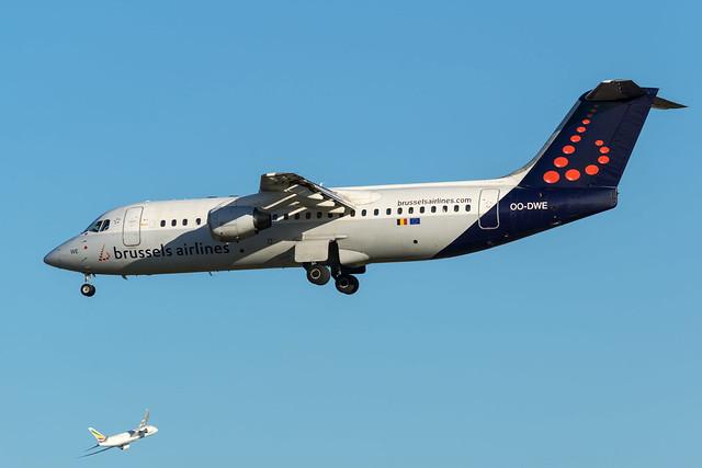 Brussels Airlines / Avro RJ100 / OO-DWE / EBBR 07L