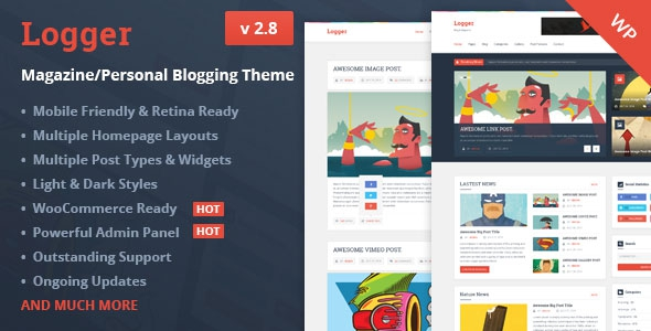 Themeforest Logger v2.8 - Magazine/Personal Blogging Theme