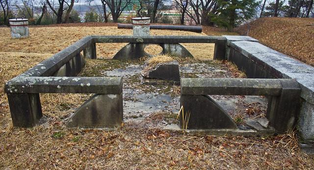 Colonial era reservoir, Ganggyeong-eup, South Korea