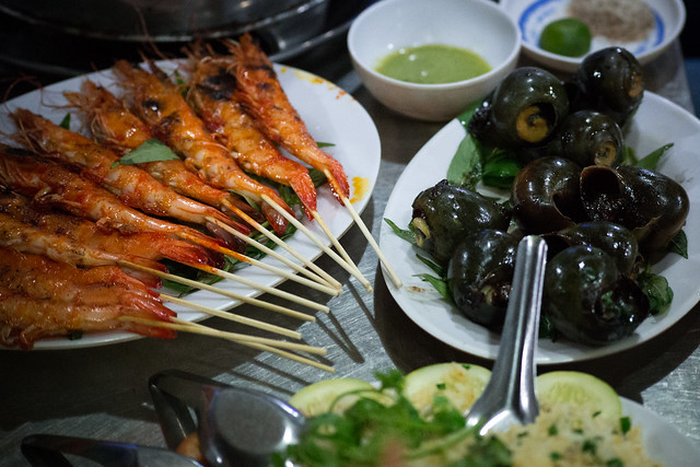 Seafood in My Tho Vietnam
