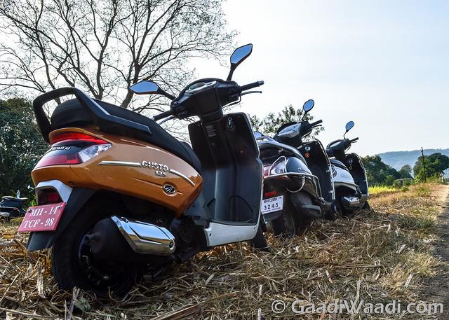 Mahindra Gusto125 vs Activa125 vs Suzuki access 125 -21