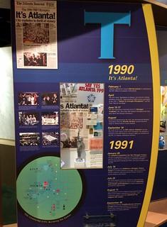 Atlanta - Atlanta History Center - Museum - 1996 Centennial Olympic Games - Timeline - 1990 & 1991