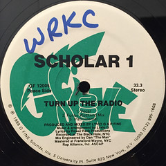 SCHOLAR 1:TURN UP THE RADIO(LABEL SIDE-A)