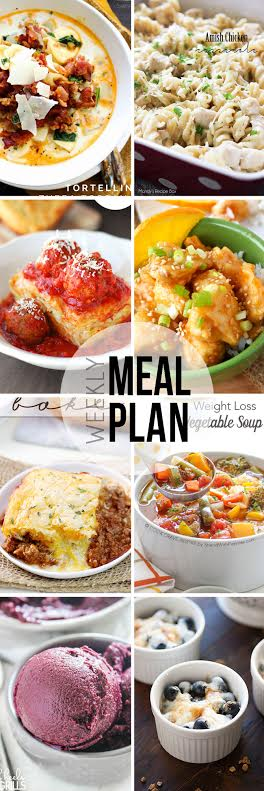 Week 29. Collaborative weekly meal planning. 9 bloggers. 6 dinner ideas, one-weekend breakfast plus 2 desserts every single week equals one heck of a delicious menu!