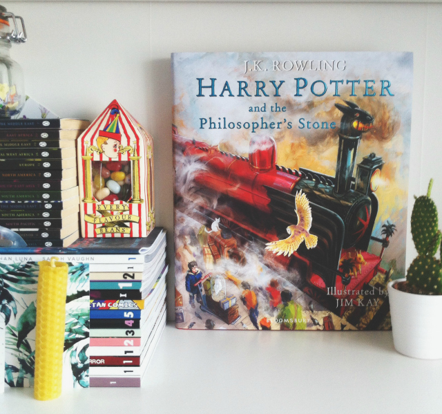 uk book blog vivatramp book haul harry potter illustrated j k rowling jim kay
