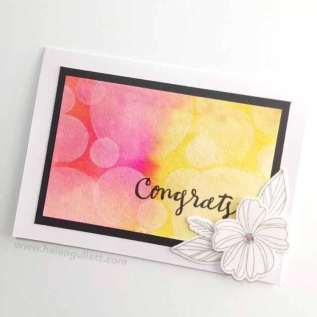 January CTMH Technique Blog Hop - Bokeh Stamping: Congrats Card --> http://helengullett.com/?p=8308 #ctmh #ctmhthincuts #ctmhnewyear #closetomyheart #ctmhspringwishes #handmadecard #cardmaking #watercoloring #bokehtechnique #diecutting #wrmk #wermemorykeepers #evolutionadvanced