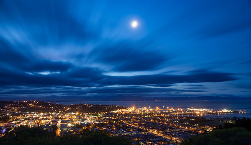 Blue hour from the middle point of New Zealand, Nelson