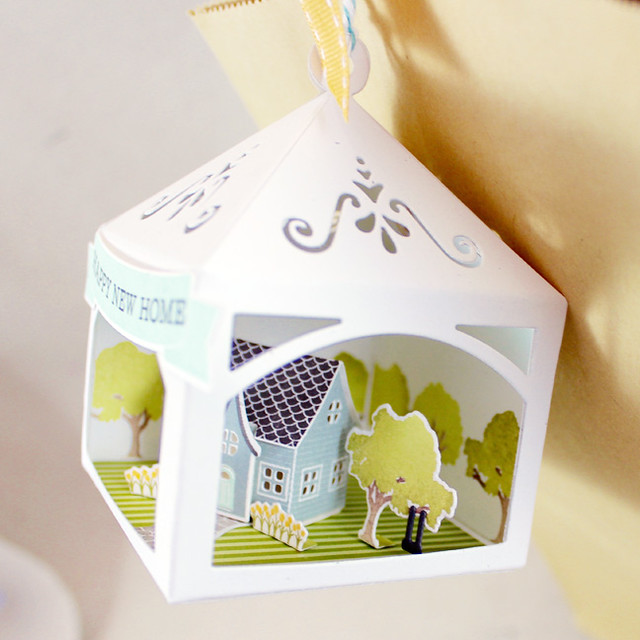 Petite Places Happy New Home 3D Tag Tree Side