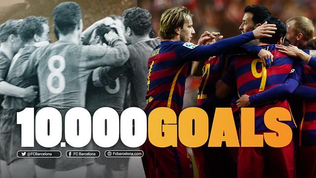 El FC Barcelona anota el Gol 10000 de su historia, ante el Arsenal