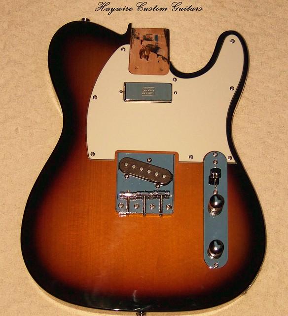 Photo:Haywire Custom Guitars Sunburst Seymour Duncan Mini-Split-1 By HaywireCustomGuitars