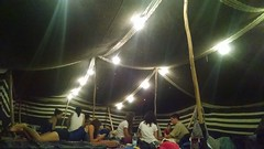 The Whole Team Under the Bedouin Tents.