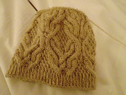 wip: Cabled Toque