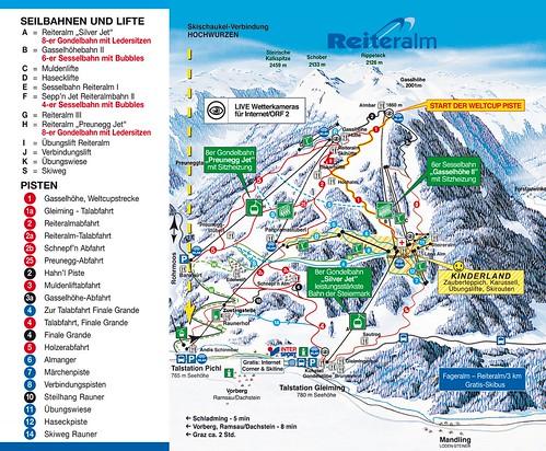 Reiteralm - mapa sjezdovek
