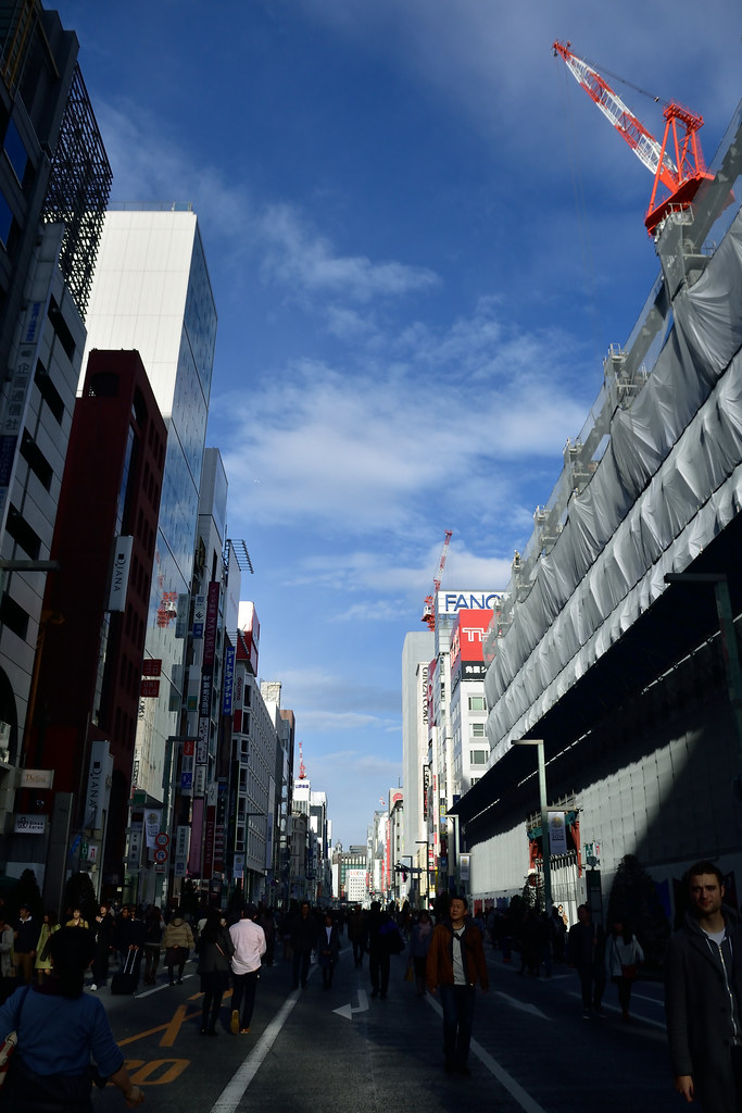 A spectacle of Vehicle-free promenade of Ginza 2016/02 No.1.
