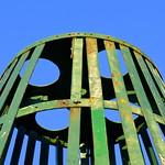 Rusting metal at Preston Docks