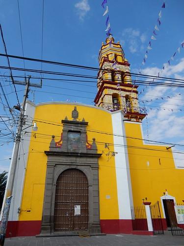 Cholula - gele kerk