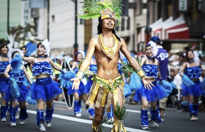 O carnaval é comemorado no Japão?