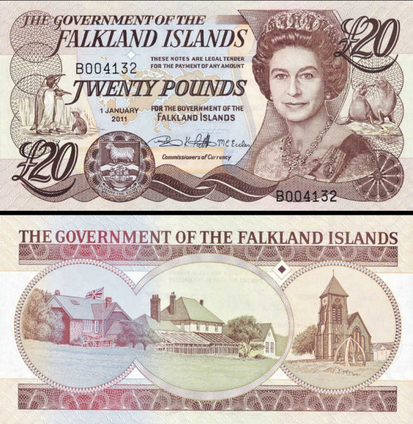 Falkland Islands p19: 20 Pounds from 2011