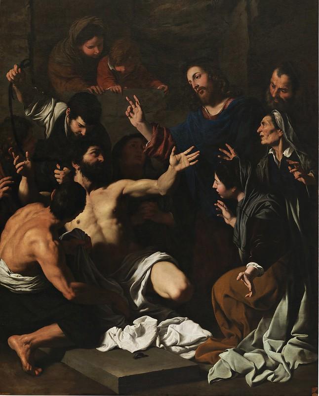 Pietro Novelli - La resurrección de Lázaro