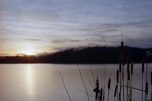 sunset lake film nature water analog 35mm illinois pentax kodak ishootfilm cattails barrington mesuper filmisnotdead ultramax400 smca50mmf14 bakerslake pentaxart
