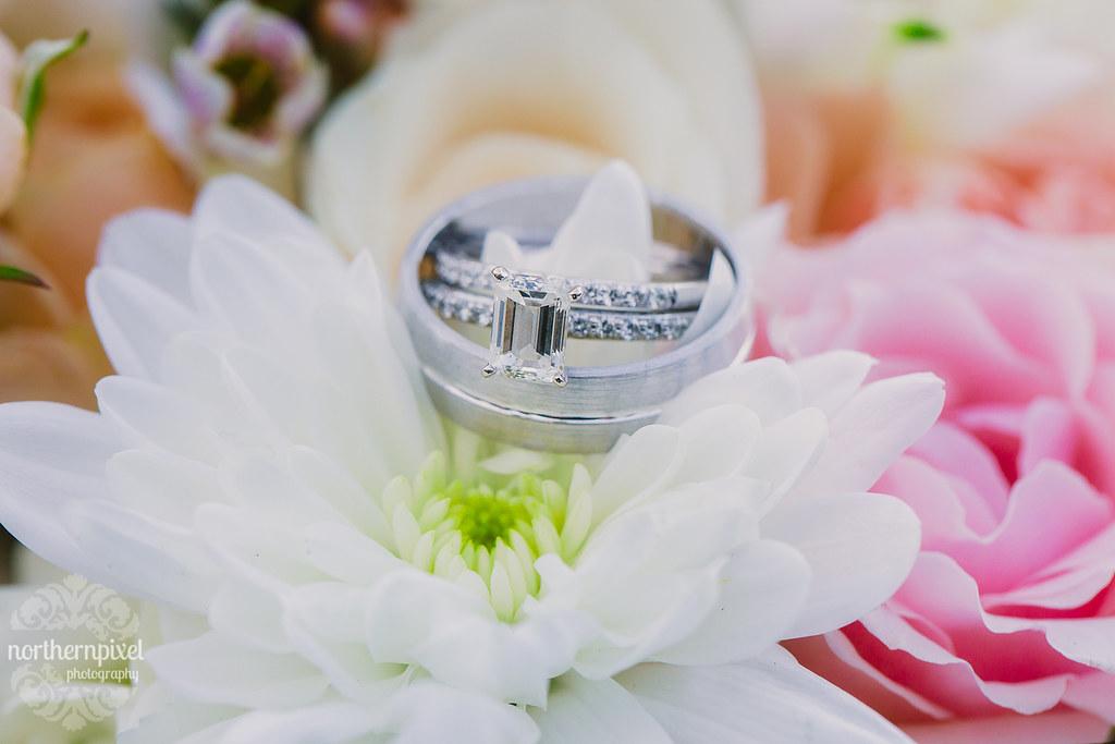 The Wedding Rings Flowers Bride Groom Prince George