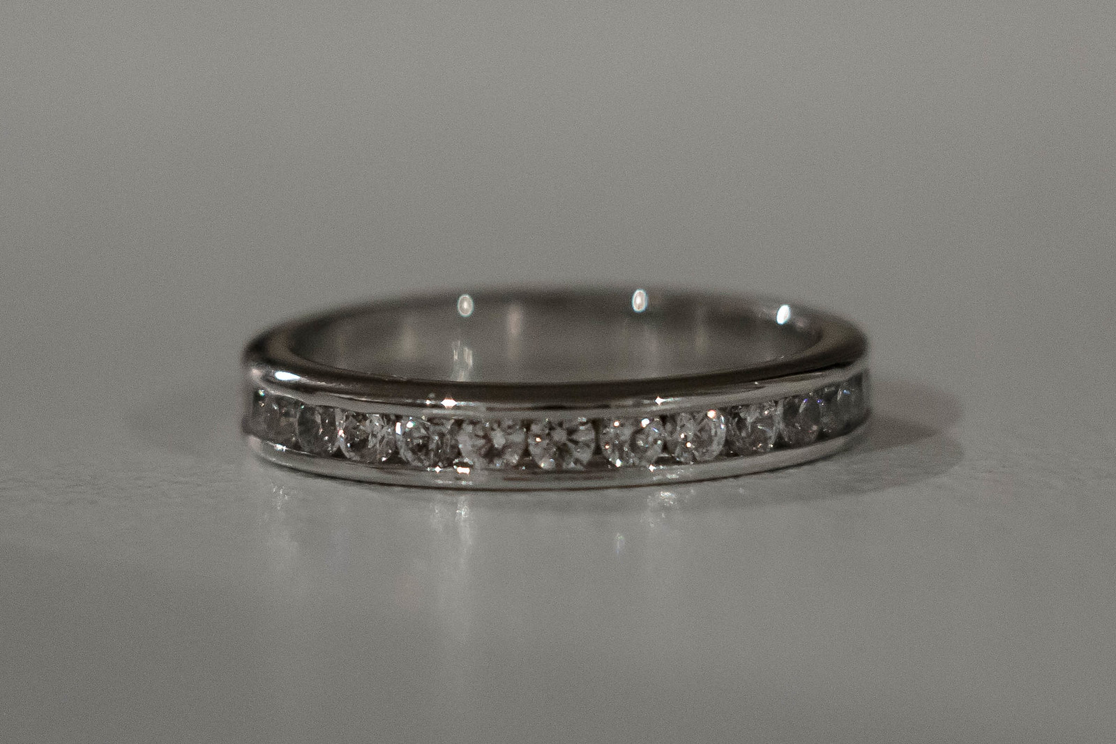 sparkly silver band