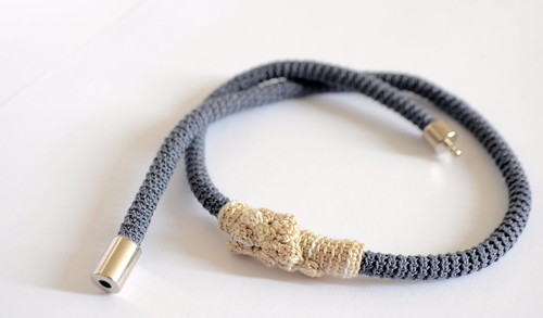 Crochet necklace - small wave