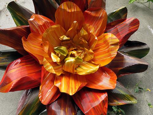 A flower sculpture in Dublin Botanical Garden
