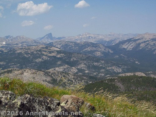Lizard Head Peak (I think) and more views from Roaring Fork Mountain, Wind River Range, Wyoming