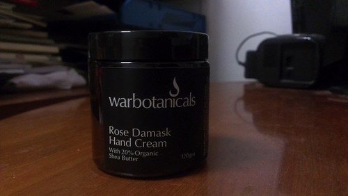 Warbotanicals Rose Damask Hand Cream jar