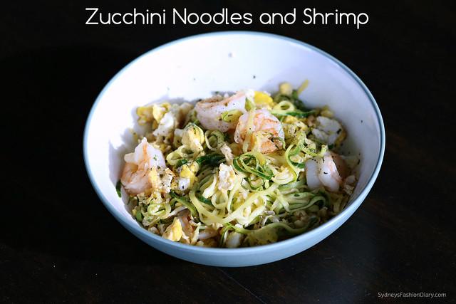 Zucchini Noodles and Shrimp_SydneysFashionDiary