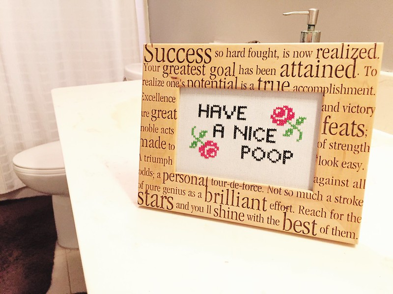 Have a Nice Poop Cross-Stitch