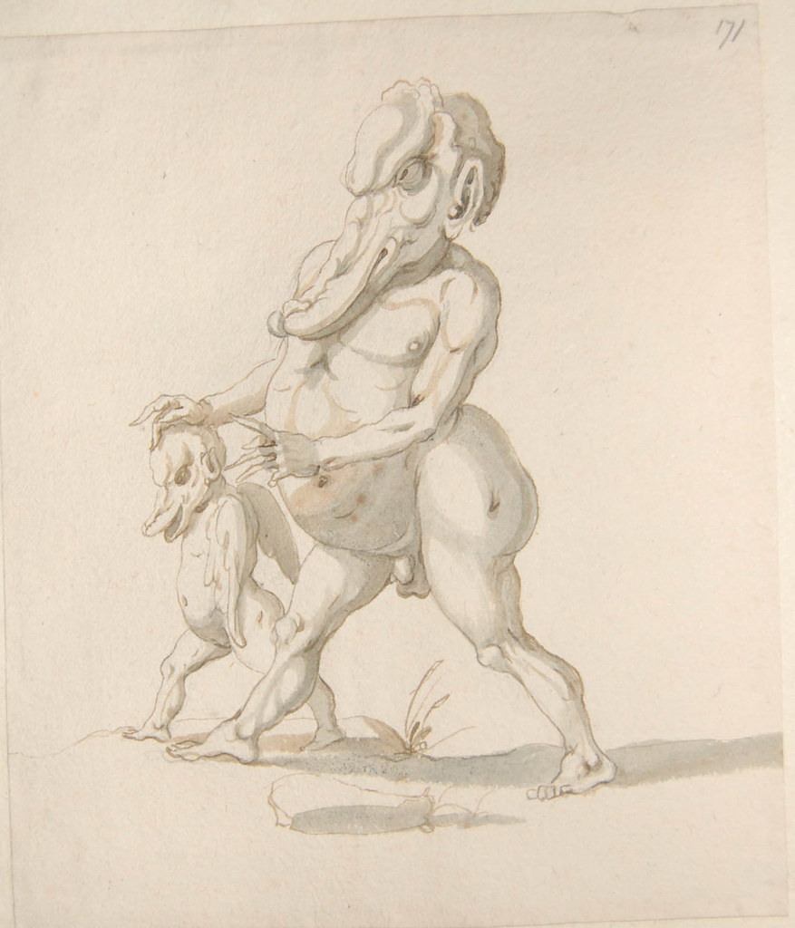 Arent van Bolten - Monster 171, from collection of 425 drawings, 1588-1633