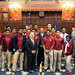 Reps. Selim Noujaim, Larry Butler and Jeff Berger posed for a photo with the State Champion Sacred Heart High School boys basketball team on Monday, April 25.