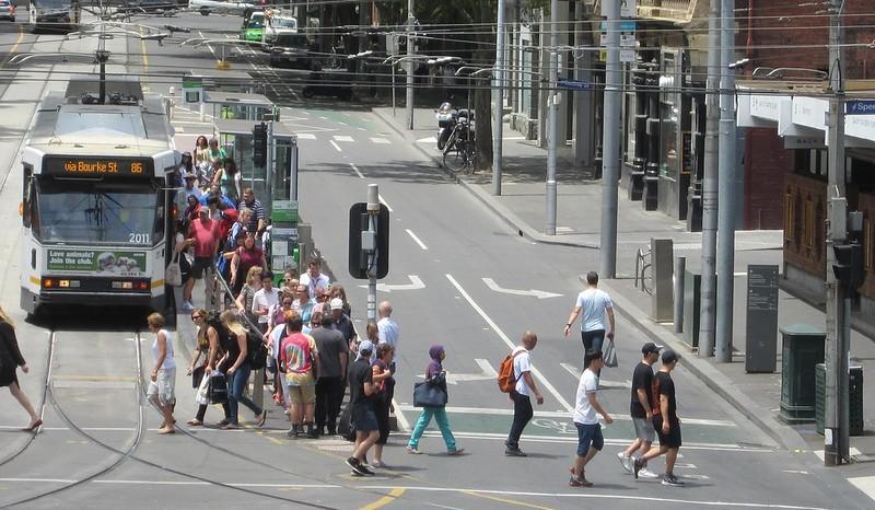 Bourke St/Spencer St tram stop