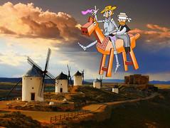 Clavileño sobre La Mancha