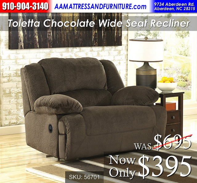 Toletta Chocolate Recliner RWB