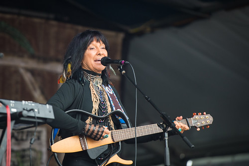 Buffy Sainte-Marie at Jazz Fest 2016 Day 4.  Photo by Kate Gegenheimer