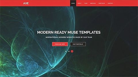 Free Adobe muse template axe template