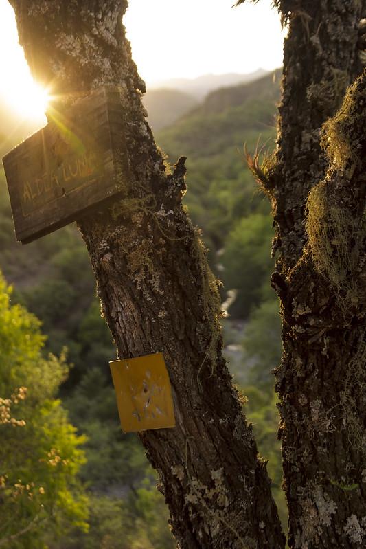 Sunset on Rio Tilquiza valley