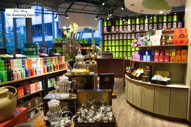 Interior of retail space