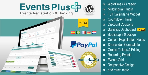 Codecanyon WordPress Events Calendar Registration & Booking v1.54