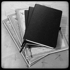 #planwithmechallenge Day 26: Archiving Right now my super-amazing, high-tech archive system is a pile of old notebooks! Mostly they live on a shelf that's somewhat out of the way but easy to get to if I have to go digging for something. This is about the