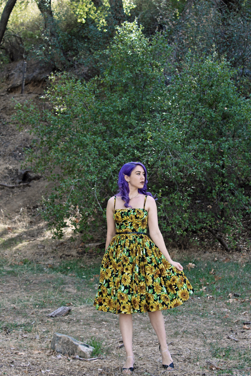 Bernie Dexter Paris Dress in Sunflower Print